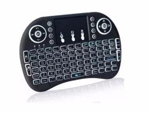 Mini Teclado Led Wireless Keyboard Mouse Smart Tv
