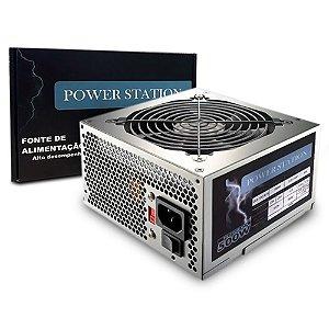 Fonte 500W Power Station GBX-500 AF-B