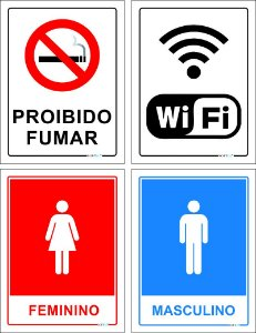 KIT PLACAS INDICATIVAS C0M 4 PLACAS