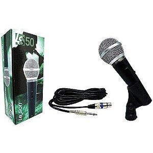Microfone de Mao Dinamico LS50 Preto Leson