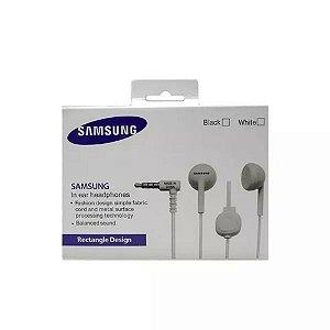 Fone De Ouvido Compatível Samsung Rectangle Design Preto