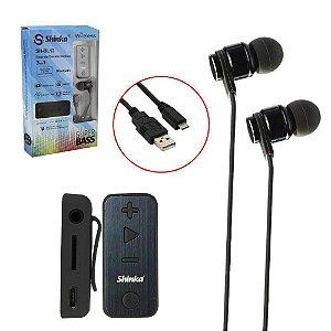 Fone De Ouvido Estereo Bluetooth Sport 3 Em 1 Sh-bl12 Shinka