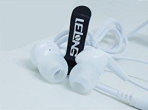FONE LELONG C/ MICROFONE MUSIC EARPHONES LE-0207 BRANCO