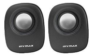 CAIXA DE SOM USB 6W RMS MYMAX  PRETA