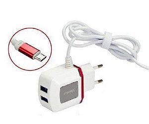 Carregador 3.1A C/ 2 Portas USB SHINKA SH-V8-2USB