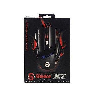Mouse Gamer Shinka X7 USB Led  2400 DPI  C/ 7 Botões