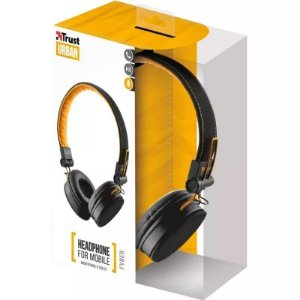 HEADPHONE  FYBER TRUST URBAN  T20079 AMARELO E PRETO