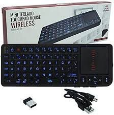 Mini Teclado Touchpad Mouse Wireless Tomate MCT-102