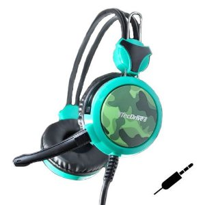 Headset Gamer P2 x2 p/ PC, PS3 e PS4 Eco da Guerra TecDrive F-5 - Camuflado Floresta