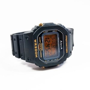 relógio vintage a prova d'agua - aqua wr200m