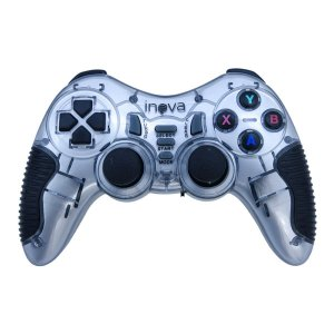Controle Game Pad Inova 7 em 1 PS1, PS2, PS3, Android - Cinza