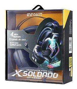 Fone De Ouvido Headset Gamer X Soldado Gh-x8000