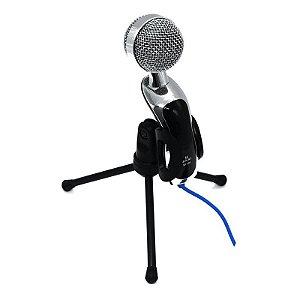 Microfone de Mesa Condensador Mic Com Tripé Sf-401