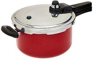 Panela de pressão Eterna 4,5 L vermelha - Nigro
