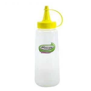 Bisnaga para molhos 250 ml Plasvale - amarela