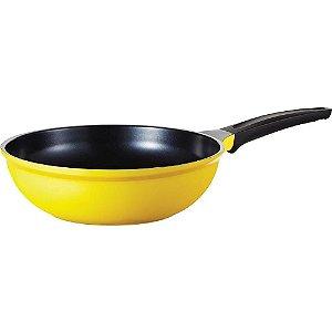 Wok de cerâmica amarelo 26 cm - Roichen