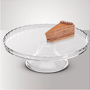 Prato para bolo de vidro com pé Luvidarte