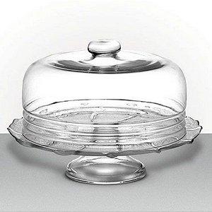 Boleira de vidro com tampa P Luvidarte