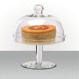 Porta bolo de vidro com tampa - Luvidarte