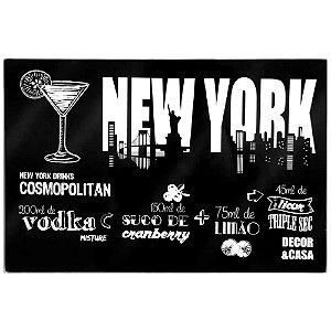 Tábua de vidro New York grande - Decor&Casa