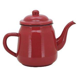 Bule esmaltado vermelho 1 litro Yazi