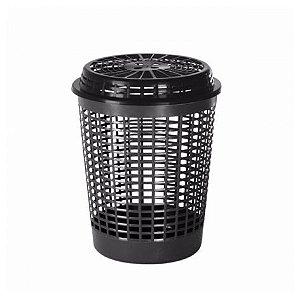 Cesto para roupas 55 litros Recycle Plasvale preto