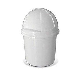 Lixeira Retrátil 7,3 litros Plasvale branca