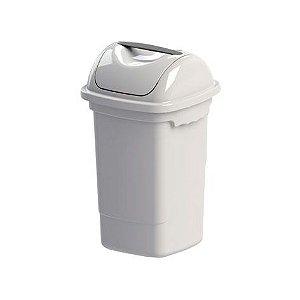 Lixeira basculante 30 litros Plasvale branca