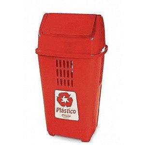 Lixeira seletiva para plásticos 50 Litros - Plasvale