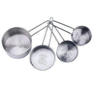 Conjunto de xícaras medidoras Inox 4 peças Mimo