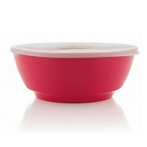 Saladeira Luna rosa 1,8 litros com tampa - Ou
