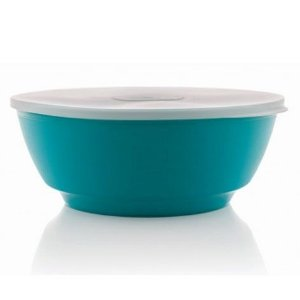Saladeira Luna azul 1,8 litros com tampa - Ou