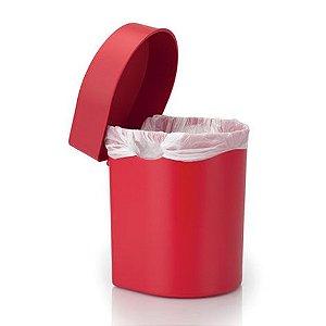 Lixeira de pia Hide 3,5 litros vermelha - Ou