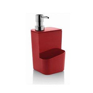 Dispenser para detergente 650 ml vermelho - Ou