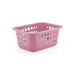 Caixa organizadora P rosa quartz - Ou