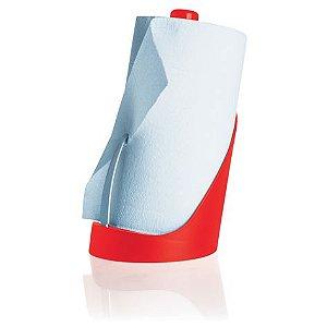 Suporte para papel toalha vermelho - Ou
