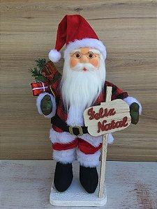 Papai Noel 50cm com placa na Plataforma Vicentin