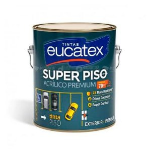 Tinta Acrilico Piso Premium Cinza Galão 3,6 Litros - Eucatex