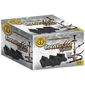 Carvão Premium CocoBeast Bommer 1Kg - 60Pcs
