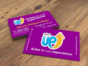 Cartão De Visita | 250g + UV 1/0 (1.000 unidades)