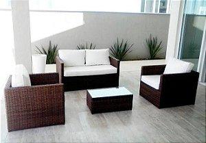 Conjunto Harmonia 4 lugares com mesa de centro