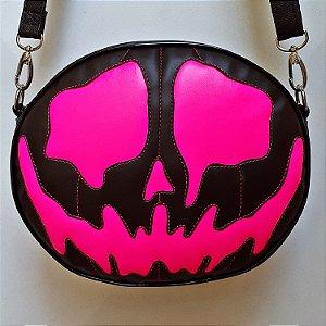 Bolsa Nara Prado Abóbora Halloween Alma Monster Neon Rosa