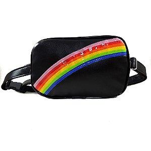 Pochete Arco-íris Preta