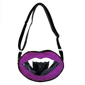 Bolsa Beijo do Vampiro Glitter Roxa