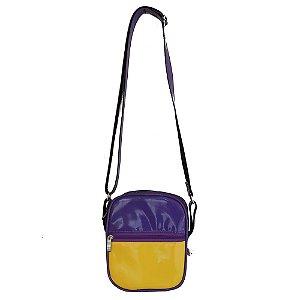 Bolsa Shoulder Bag Colors Roxa e Amarela