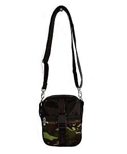 Bolsa Shoulder Bag Camuflada e Verniz