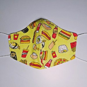 Mascara para prevenção de tecido duplo 100% algodão Fast Food Series
