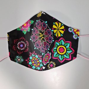 Mascara para prevenção de tecido duplo 100% algodão Floral