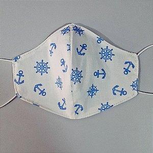 Mascara para prevenção de tecido duplo 100% algodão Naval