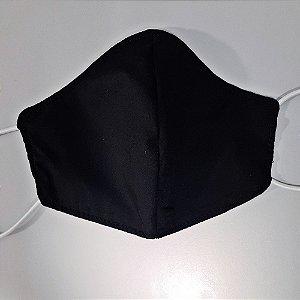 Mascara para prevenção de tecido duplo 100% algodão Preta
